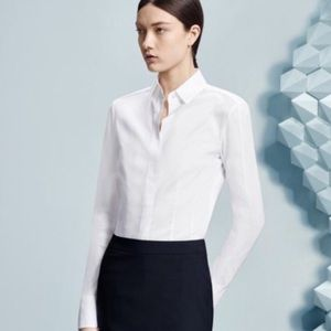 Hugo Boss Bashina White Poplin Tailored Shirt